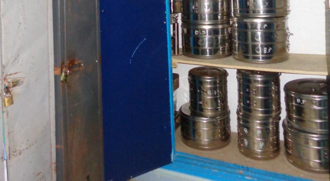 Stérilisation en tambours