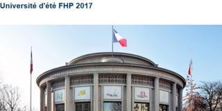 Université d'été 2017 de la FHP