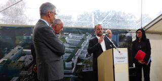 Cérémonie de pose de la première pierre pour le nouvel hôpital d'Epinal