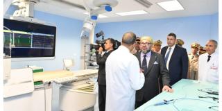 Inauguration d'un centre de cardiologie à l'hôpital militaire Mohamed V de Rabat