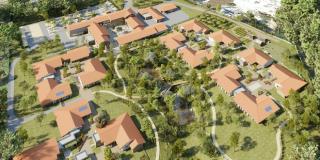 Pose de la première pierre du premier Village Alzheimer français
