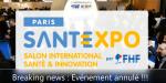 La FHF et PG Organisation annoncent l'annulation de SANTEXPO 2020