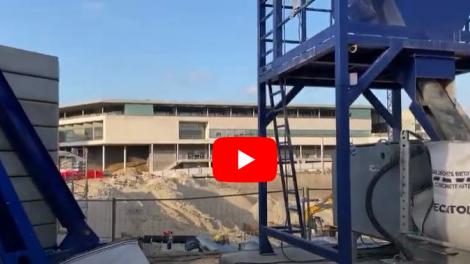 Avancement du chantier du Nouvel Hôpital de Reims - 15/01/2021-source : Champagne.fm