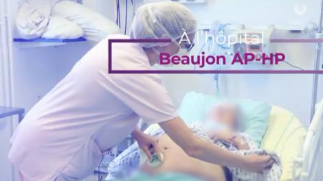 Reportage en salle de naissance auprès des sages-femmes de l'hôpital Beaujon AP-HP