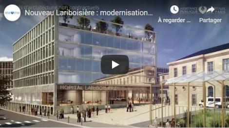 Nouveau Lariboisière : modernisation et reconfiguration de l'ensemble de l'hôpital